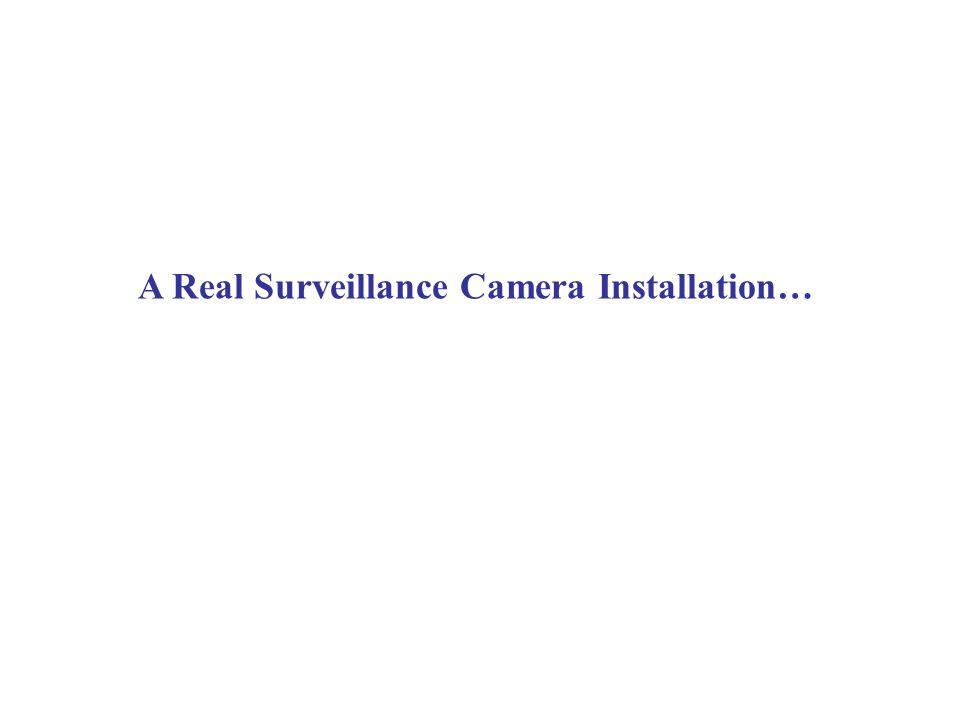 A Real Surveillance Camera Installation…
