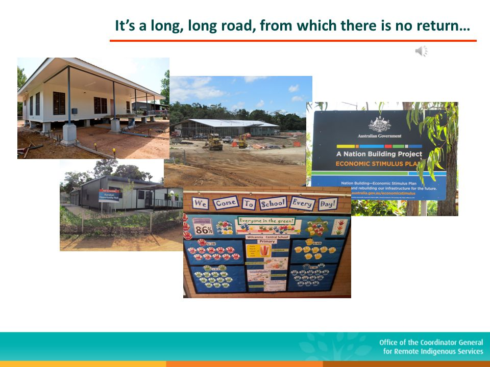 It's a long, long road, from which there is no return… www.cgris.gov.au