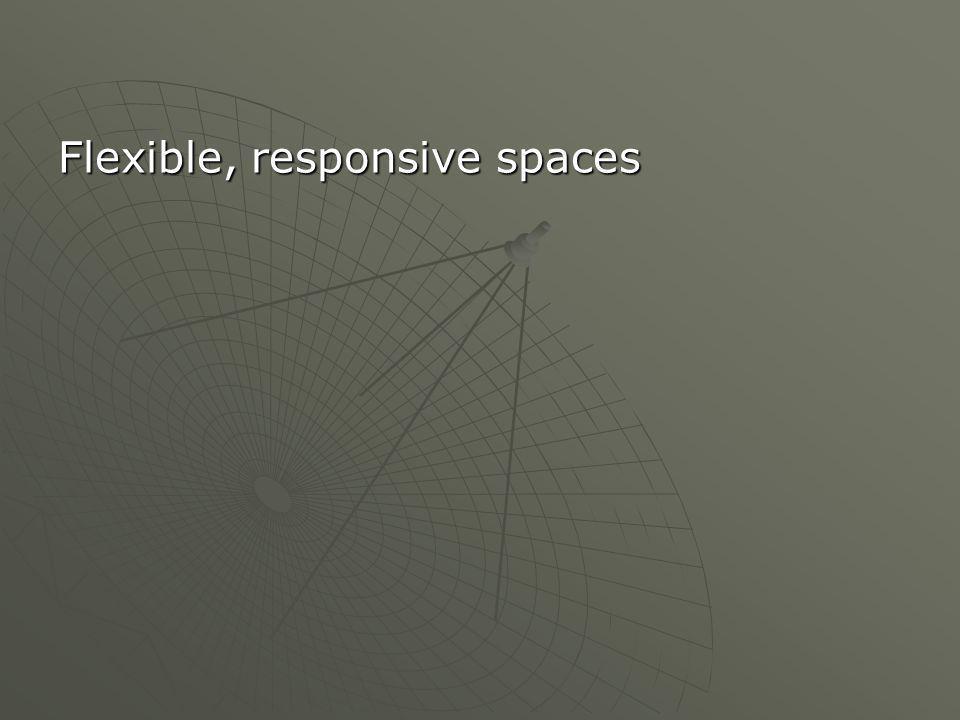 Flexible, responsive spaces
