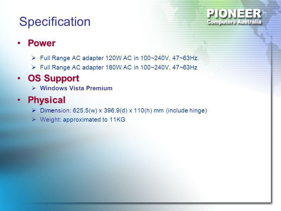 PowerPower  Full Range AC adapter 120W AC in 100~240V, 47~63Hz.
