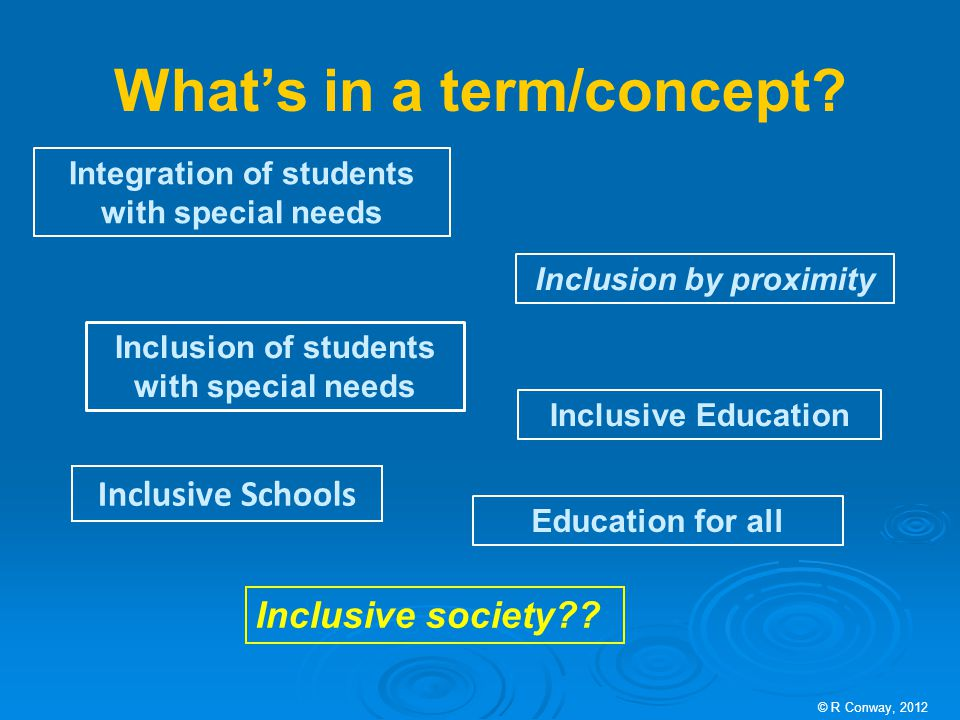What's in a term/concept.