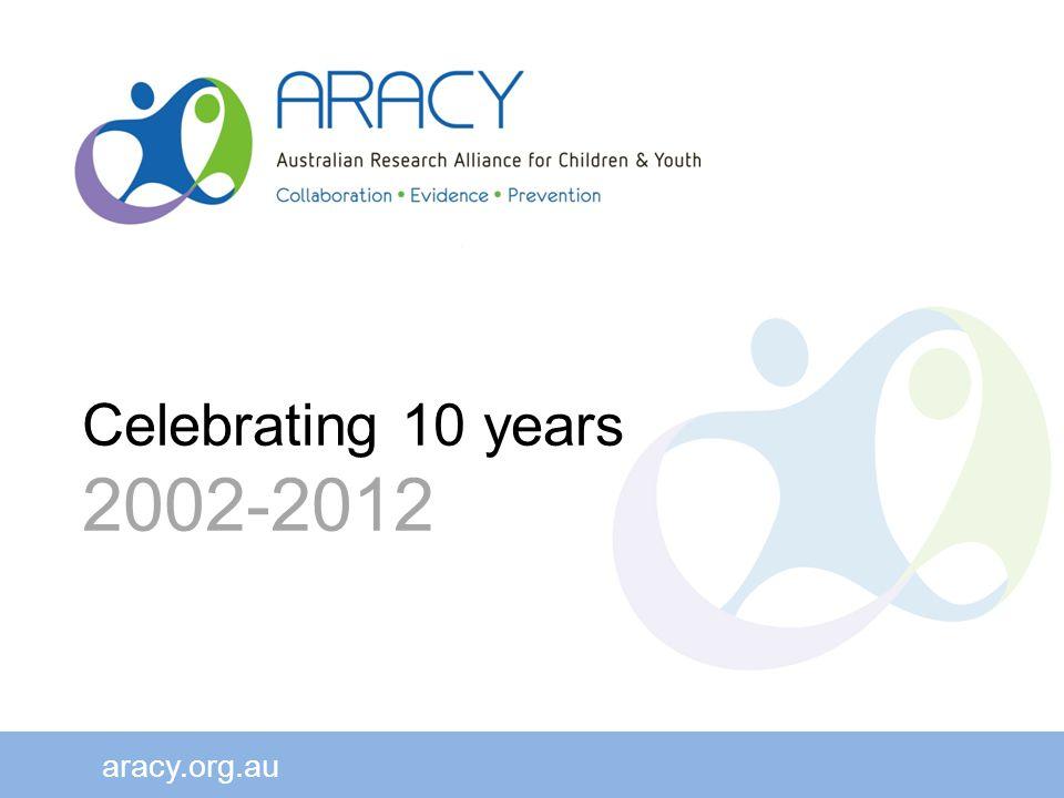 aracy.org.au Celebrating 10 years 2002-2012