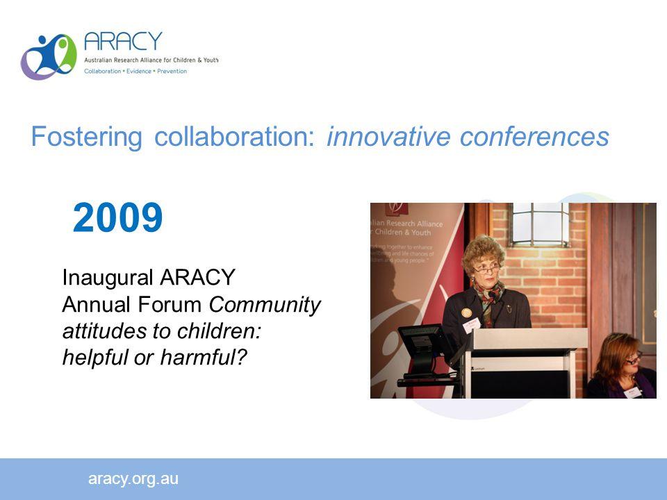 aracy.org.au 2009 Inaugural ARACY Annual Forum Community attitudes to children: helpful or harmful.