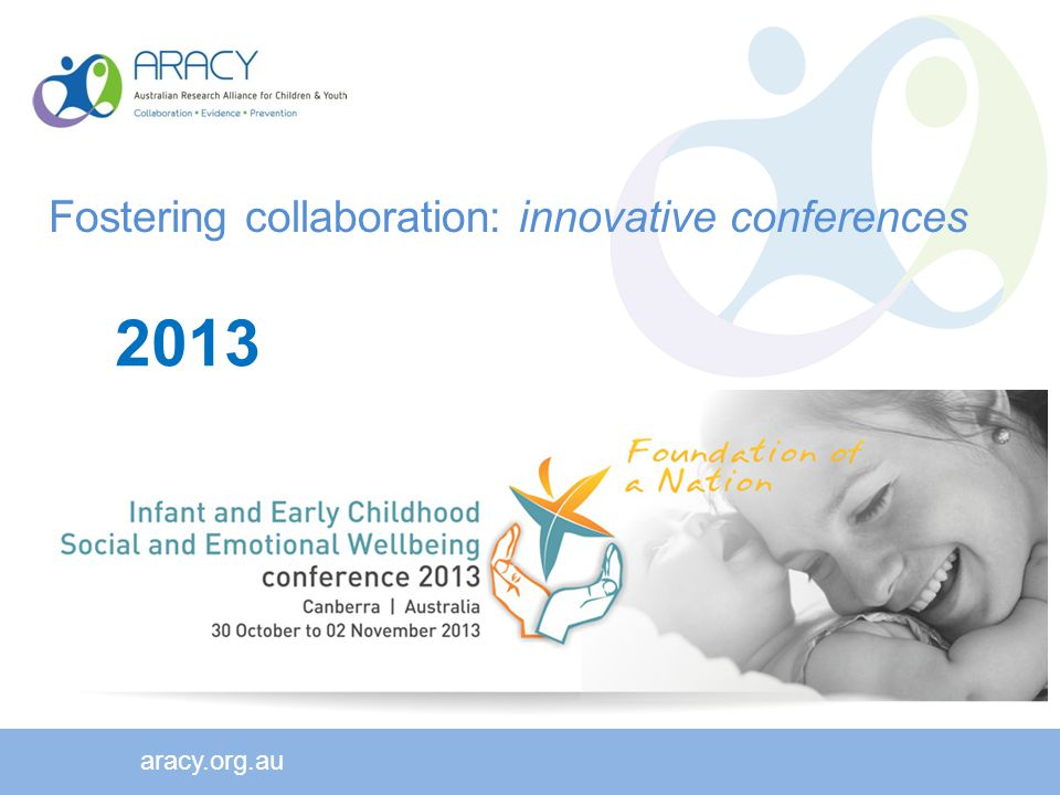 aracy.org.au 2013 Fostering collaboration: innovative conferences