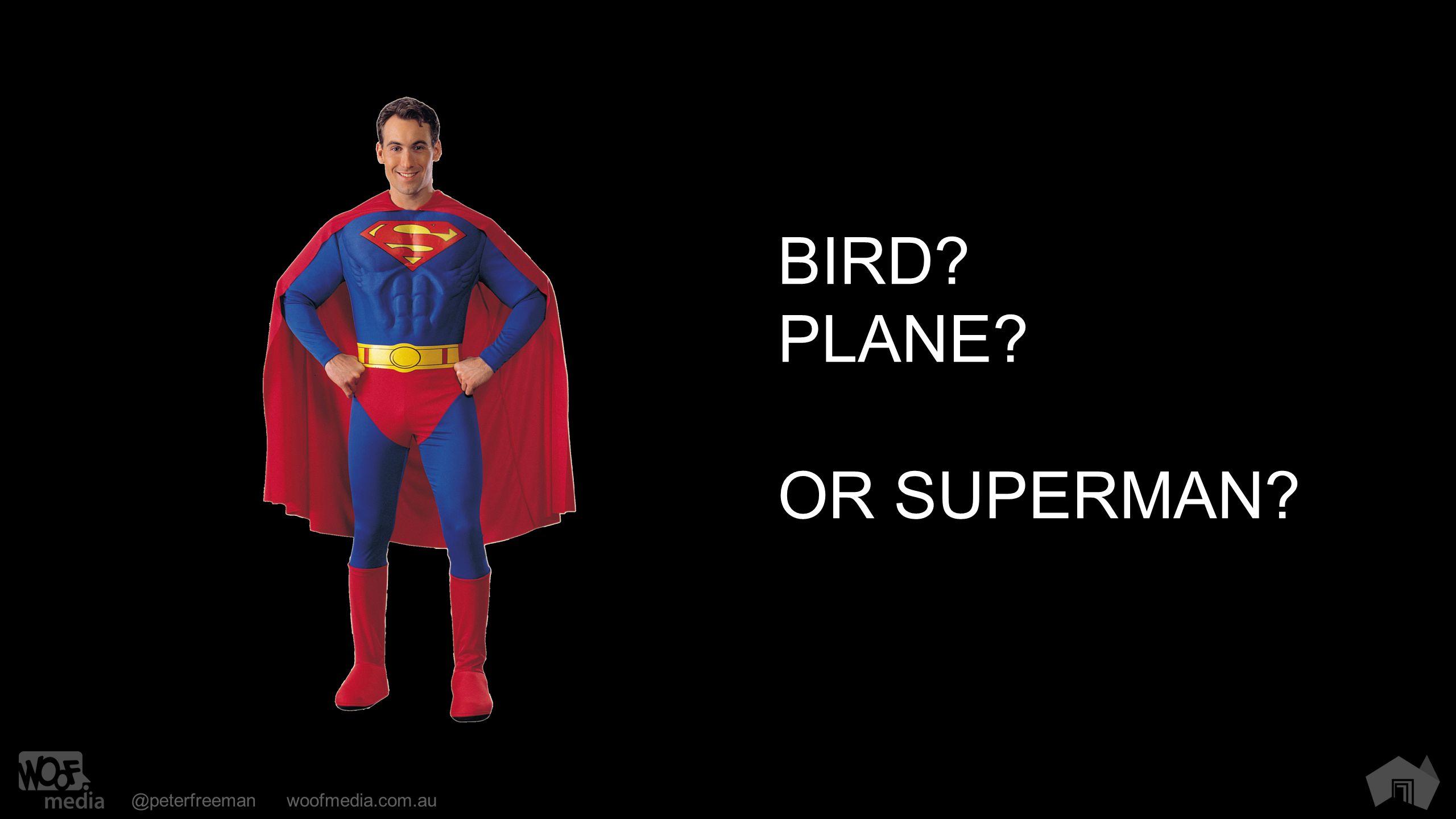 @peterfreemanwoofmedia.com.au BIRD PLANE OR SUPERMAN