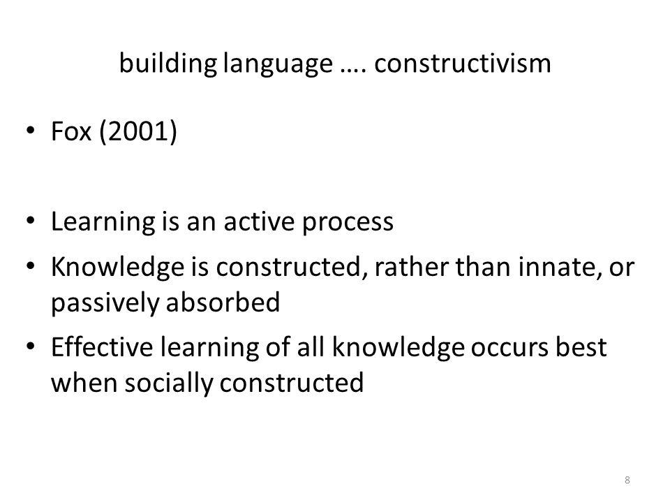 building language ….