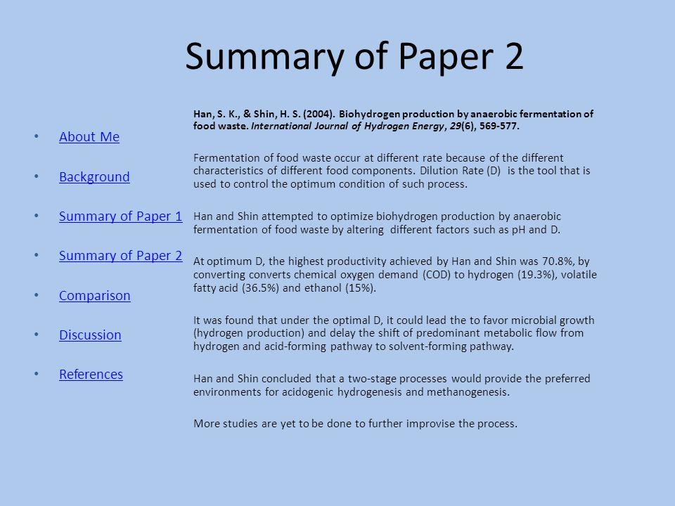 Summary of Paper 2 Han, S.K., & Shin, H. S. (2004).