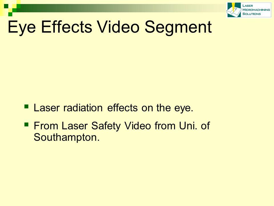 Eye Effects Video Segment  Laser radiation effects on the eye.