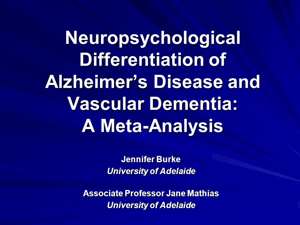 Background The differential diagnosis of Alzheimer's Disease (AD) and vascular dementia (VaD) is difficult Cognitive assessments play an important role in differential diagnosis There is a lack of clear evidence regarding which cognitive tests accurately discriminate between AD and VaD