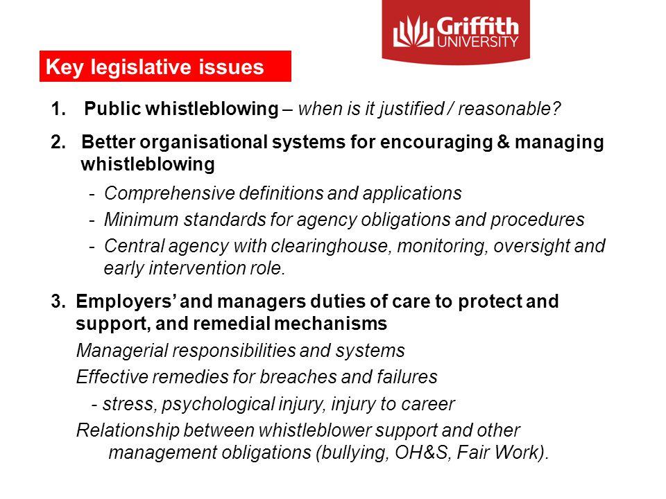 1.Public whistleblowing – when is it justified / reasonable.