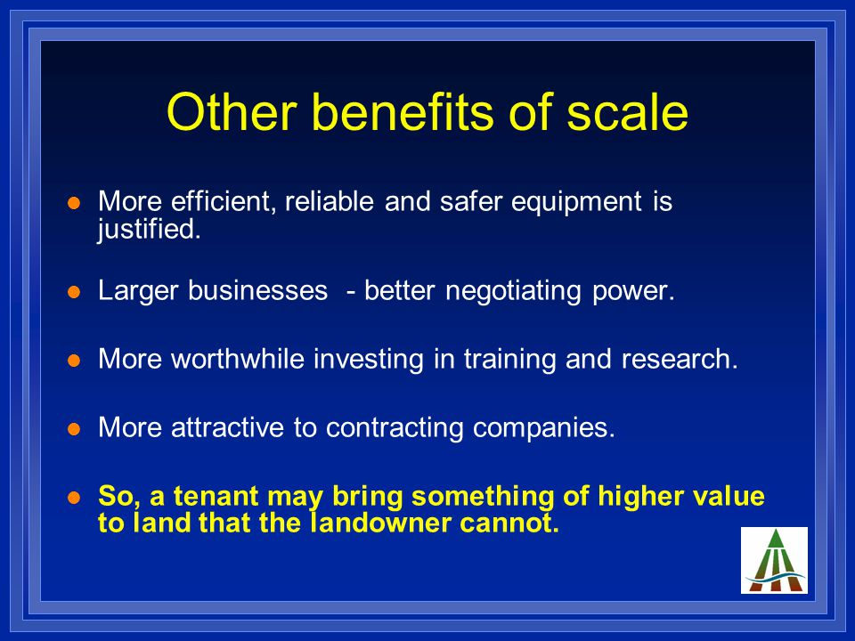 Golden Rules Benefits are not without risks.The potential for economies of scale.