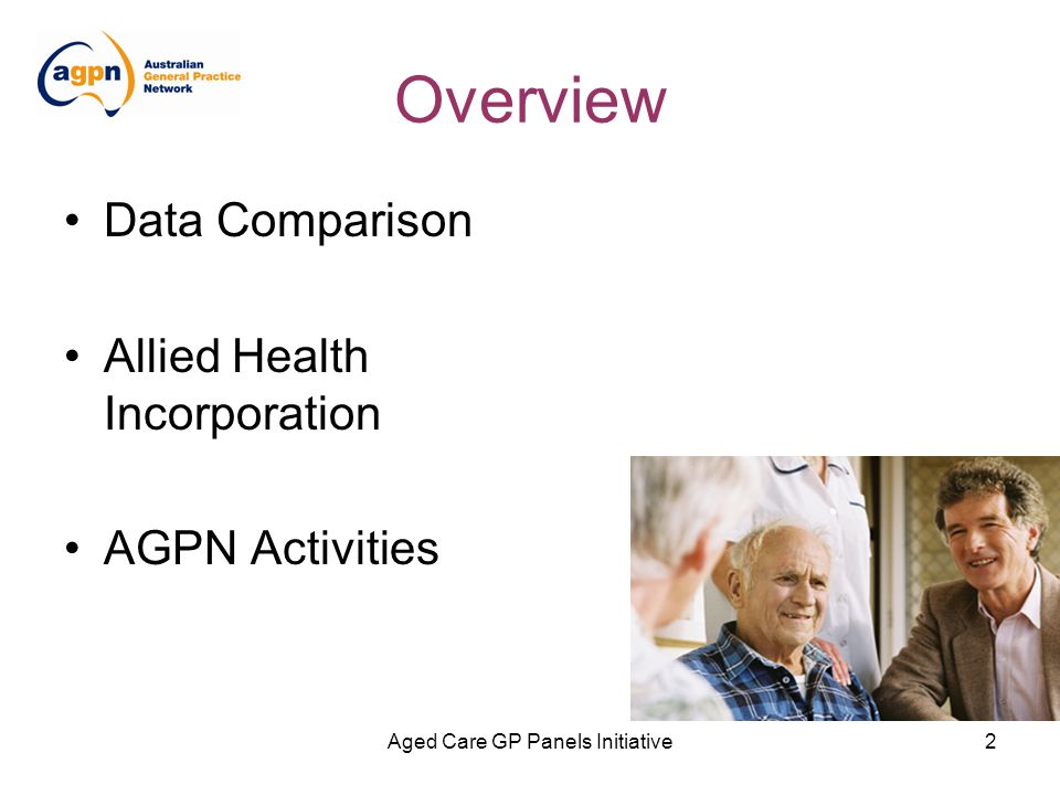 Aged Care GP Panels Initiative3 What is AGPN being measured on.