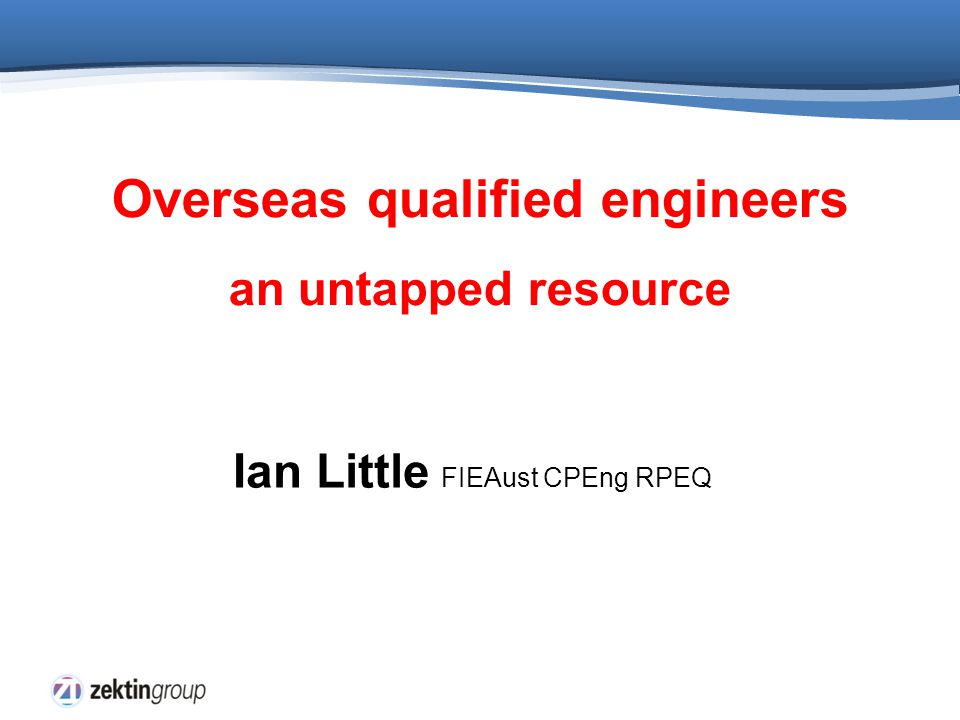 Introduction There is a large pool of unemployed migrant engineers in Australia not being accepted by employers Why .