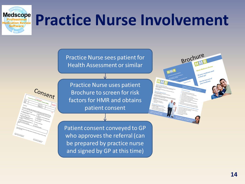 Practice Nurse Involvement 14