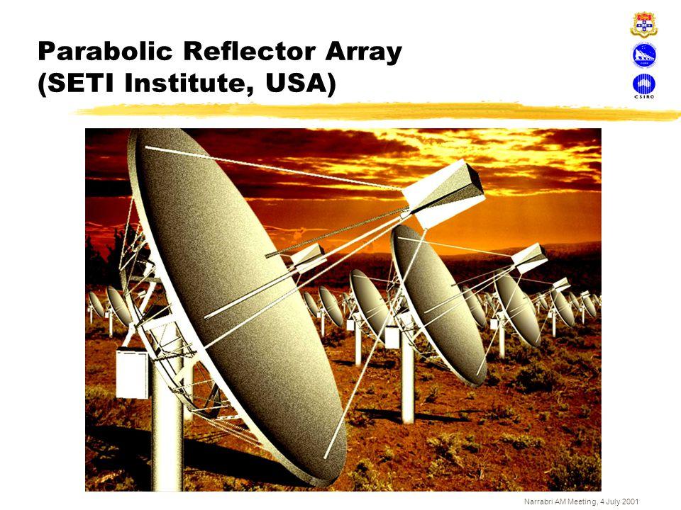 Narrabri AM Meeting, 4 July 2001 Parabolic Reflector Array (SETI Institute, USA)