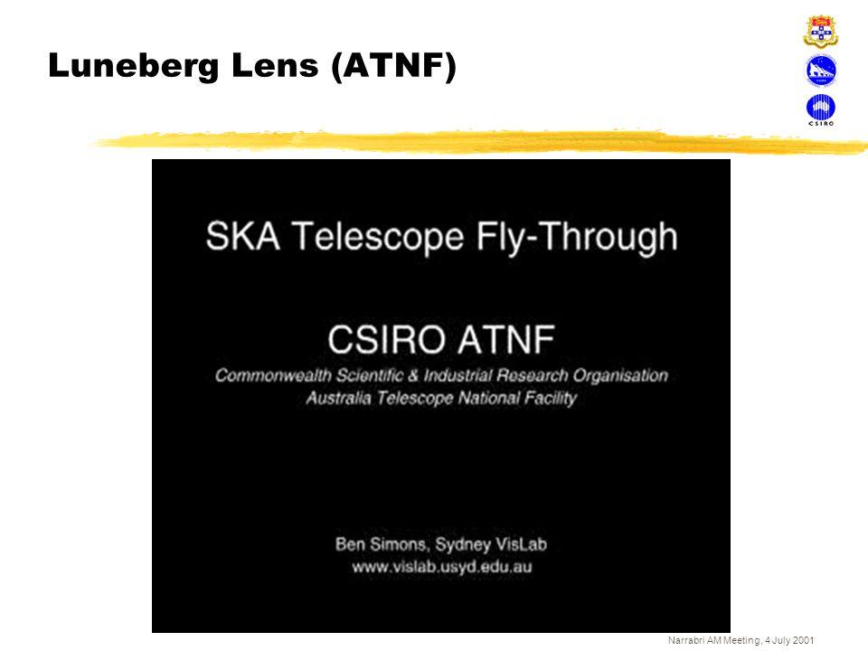 Narrabri AM Meeting, 4 July 2001 Luneberg Lens (ATNF)