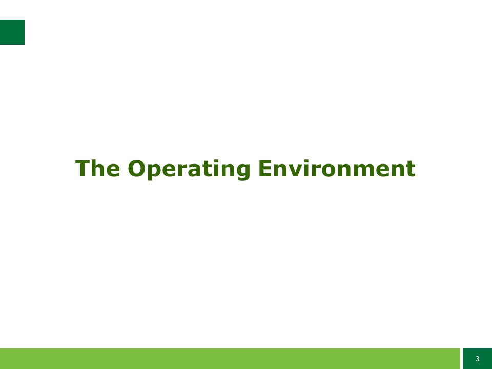 3 The Operating Environment