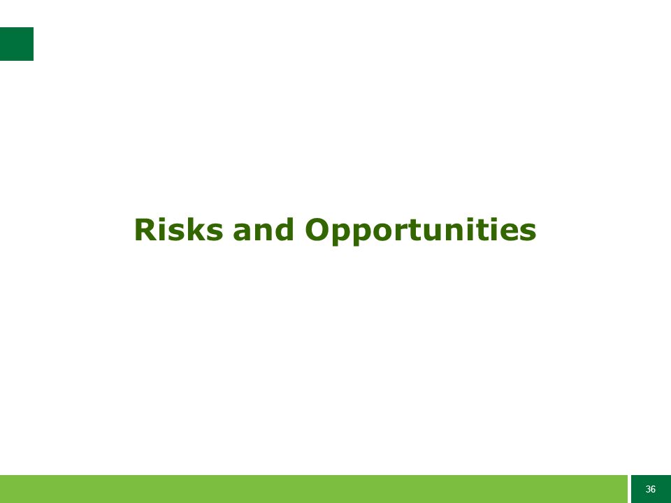 36 Risks and Opportunities