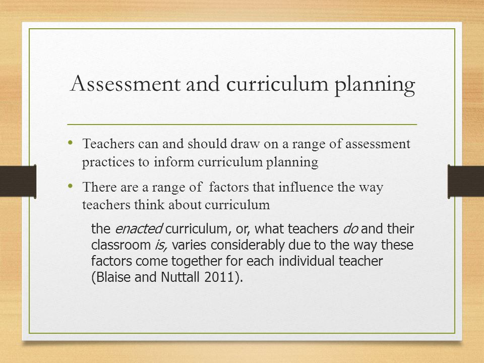 The influence of policy on curriculum Whilst curriculum is commonly referred to as the content of teaching (Bowman, Donovan & Burns 2001, p.