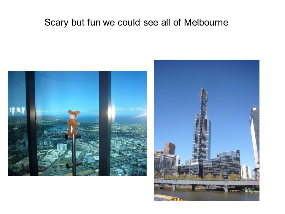 Scary but fun we could see all of Melbourne