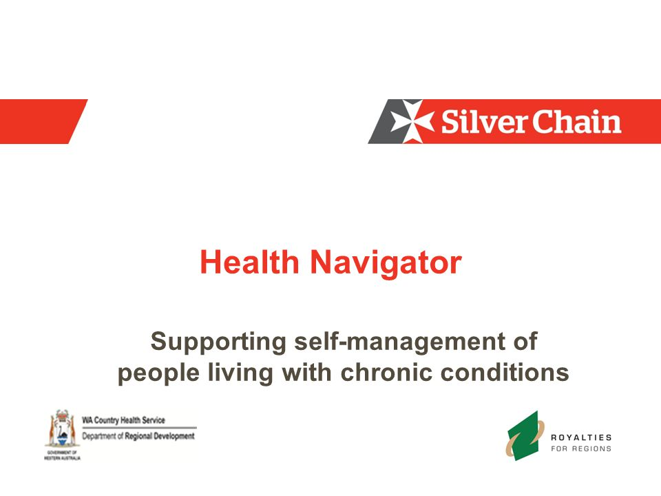 Health Navigator Supporting self-management of people living with chronic conditions