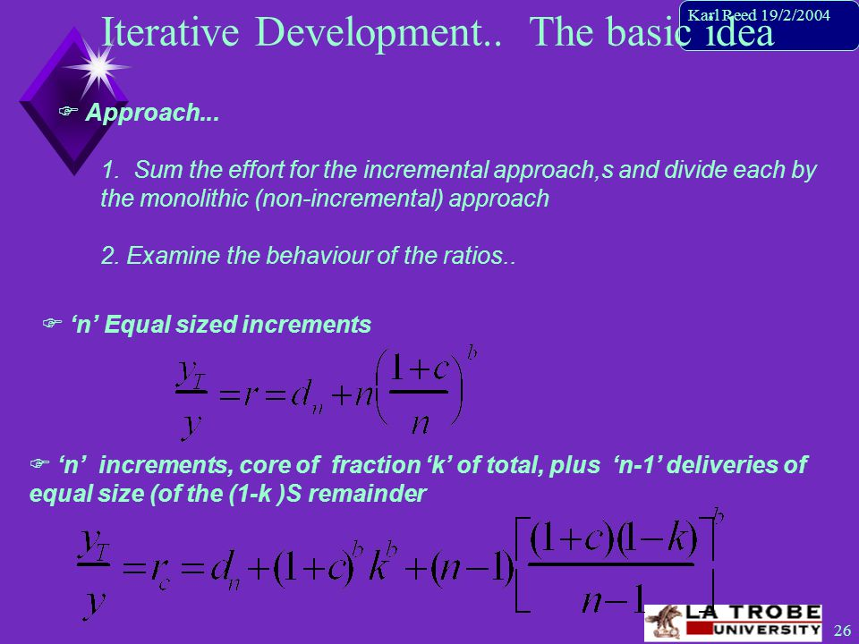 26 Karl Reed 19/2/2004 Iterative Development.. The basic idea  Approach...