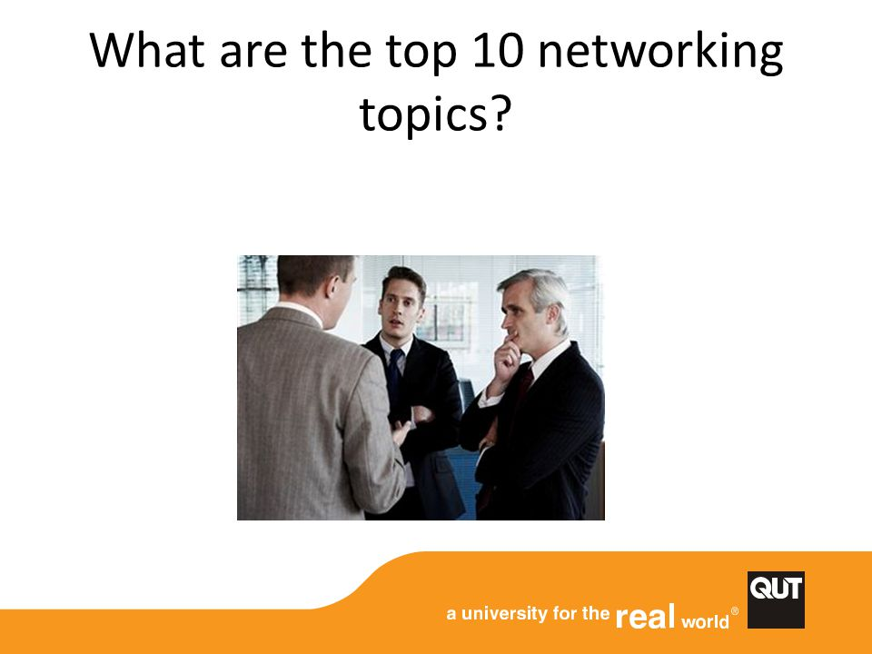 What are the top 10 networking topics