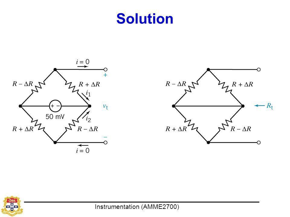 Instrumentation (AMME2700) Solution
