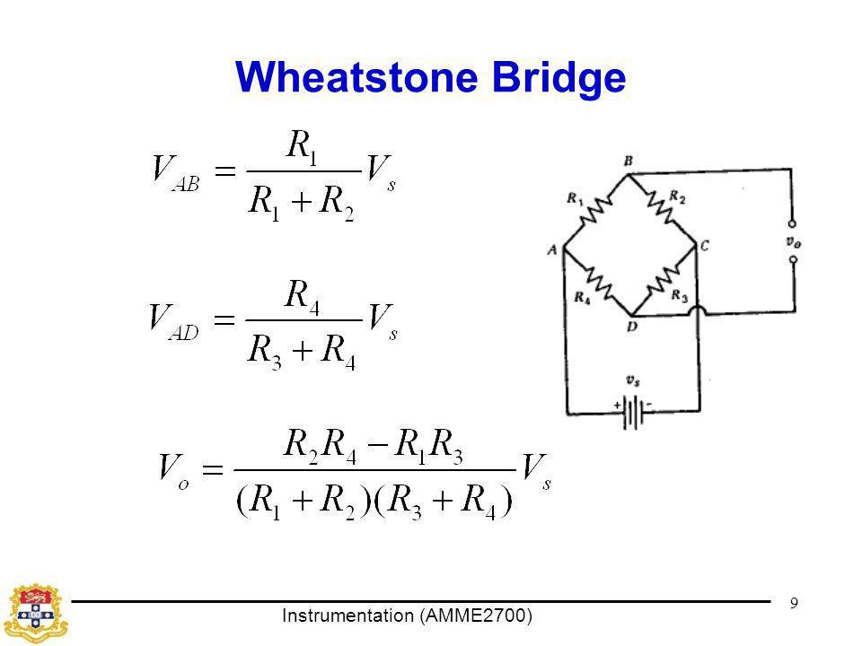 Instrumentation (AMME2700) Wheatstone Bridge 9