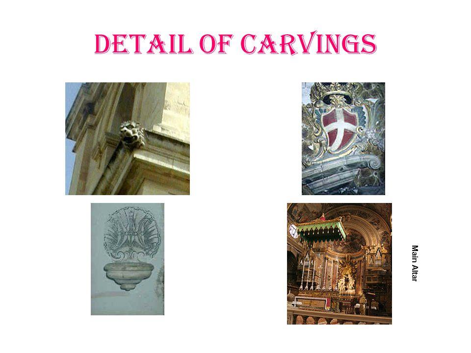 Detail of Carvings Main Altar