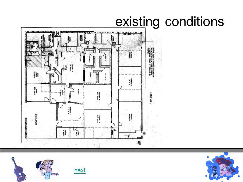 existing conditions next