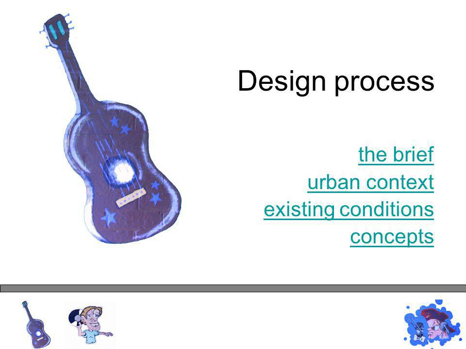 Design process the brief urban context existing conditions concepts