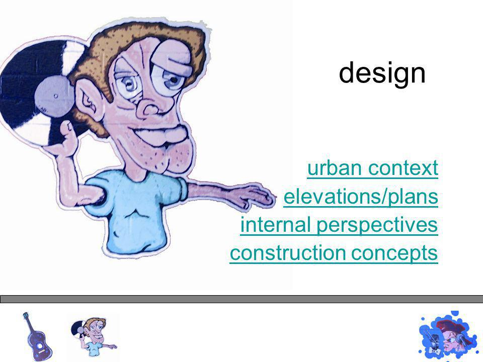 urban context elevations/plans internal perspectives construction concepts design