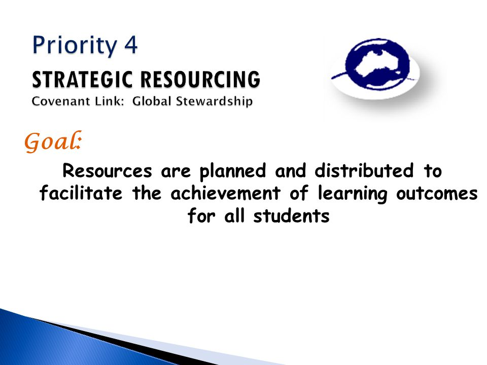 Goal: Resources are planned and distributed to facilitate the achievement of learning outcomes for all students