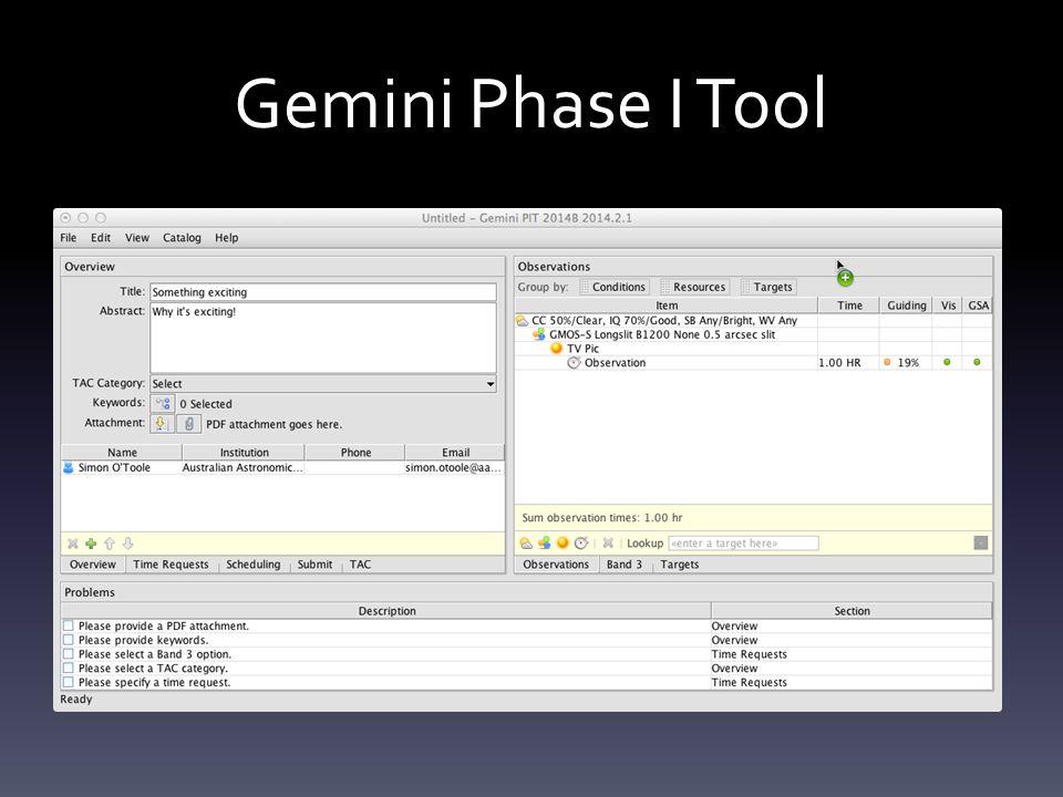Gemini Phase I Tool