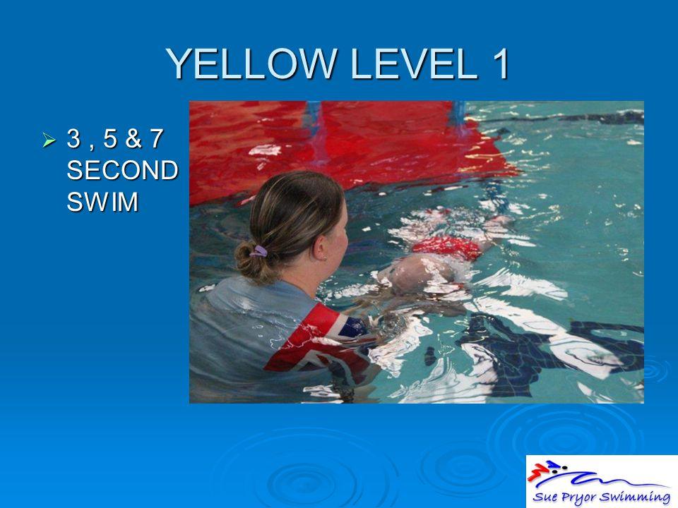YELLOW LEVEL 1  3, 5 & 7 SECOND SWIM