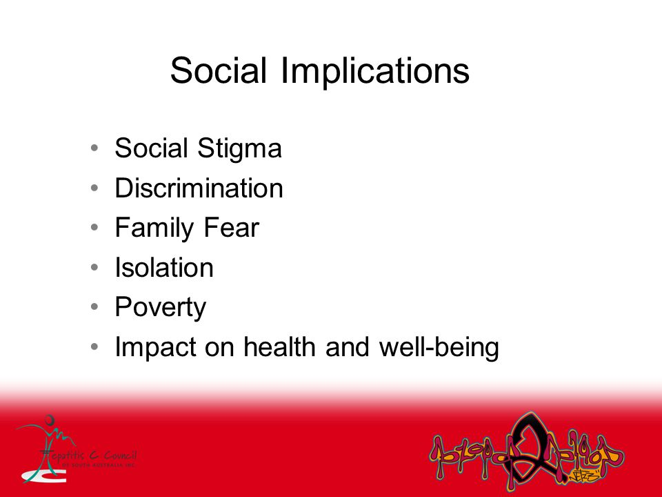 Social Implications Social Stigma Discrimination Family Fear Isolation Poverty Impact on health and well-being