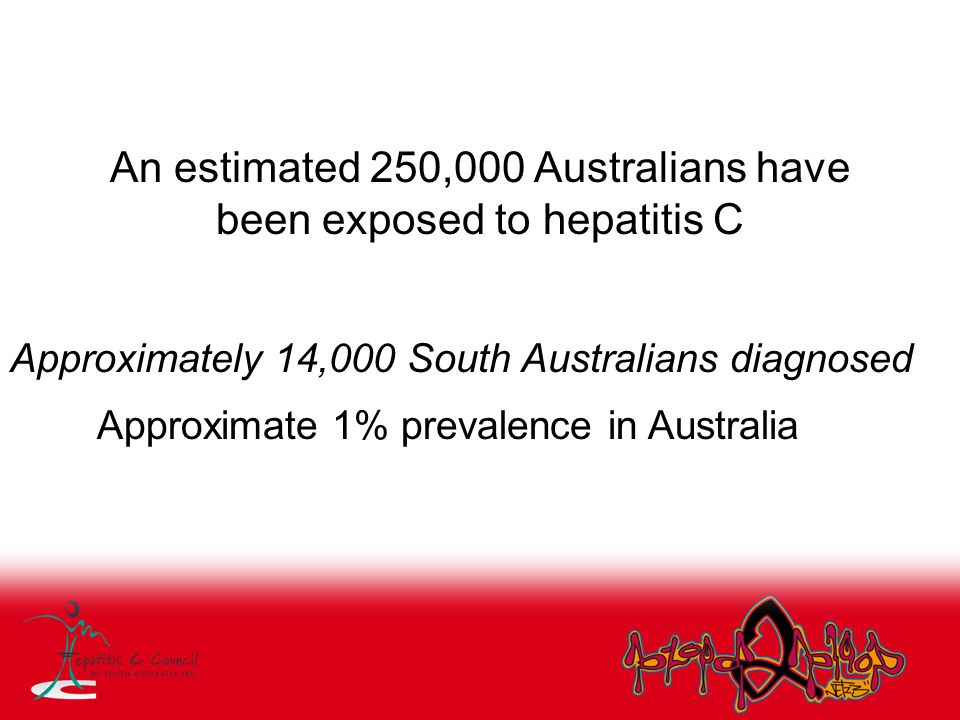 In Australia 16,000 estimated new infections per year Hepatitis C Virus Projections Working Group Estimates and Projections of the Hepatitis C Virus Epidemic in Australia 2002, ANCAHRD Hepatitis C Sub-Committee In Australia that's approximately a bus load of people each day (approx 40) newly infected with hepatitis C