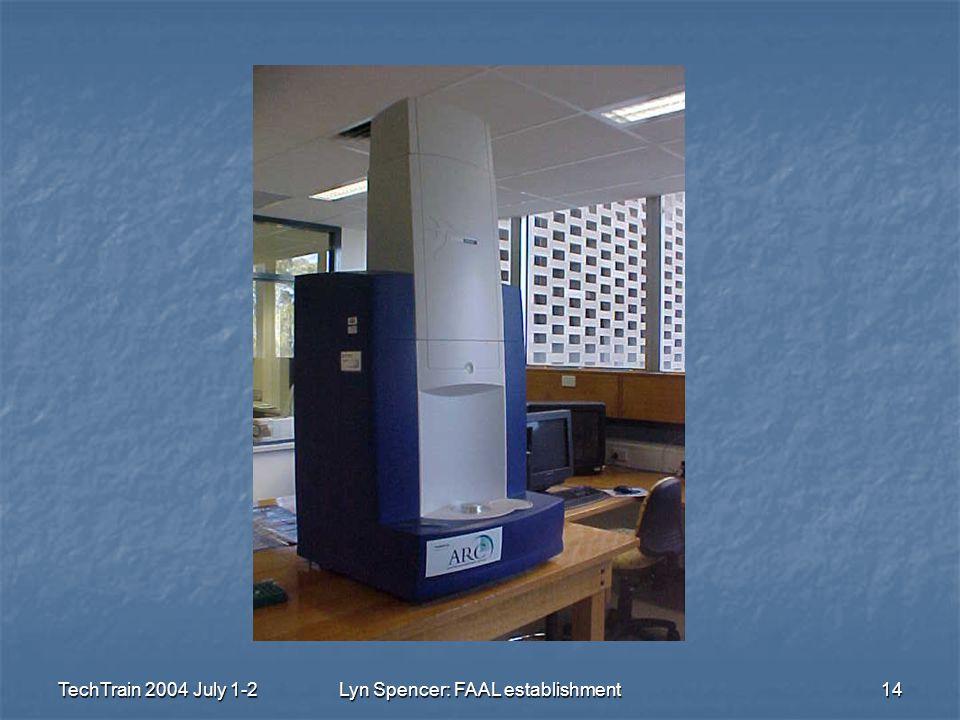 TechTrain 2004 July 1-2Lyn Spencer: FAAL establishment14