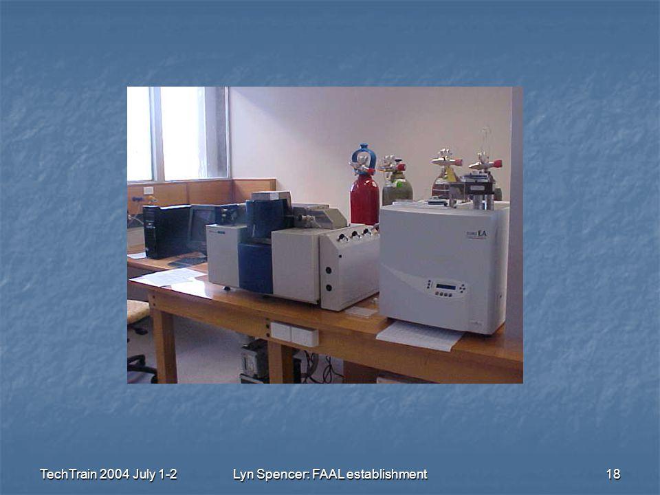 TechTrain 2004 July 1-2Lyn Spencer: FAAL establishment18
