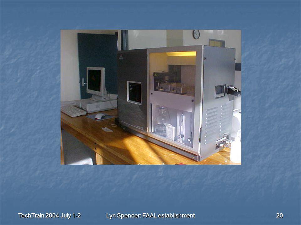 TechTrain 2004 July 1-2Lyn Spencer: FAAL establishment20