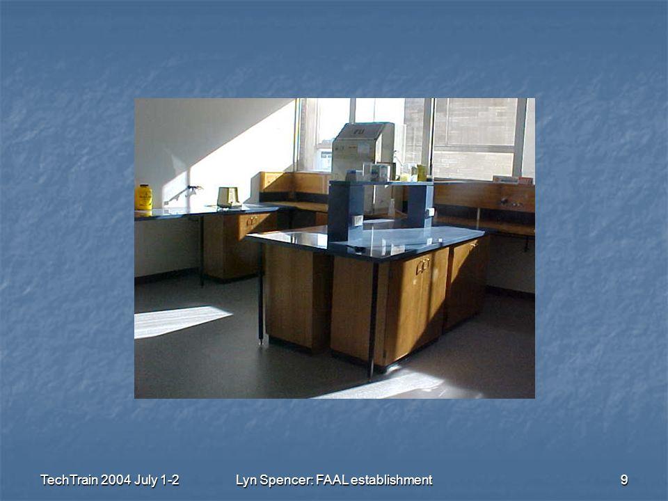 TechTrain 2004 July 1-2Lyn Spencer: FAAL establishment9