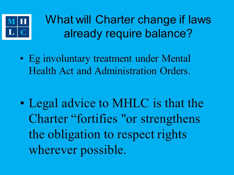 What will Charter change if laws already require balance.
