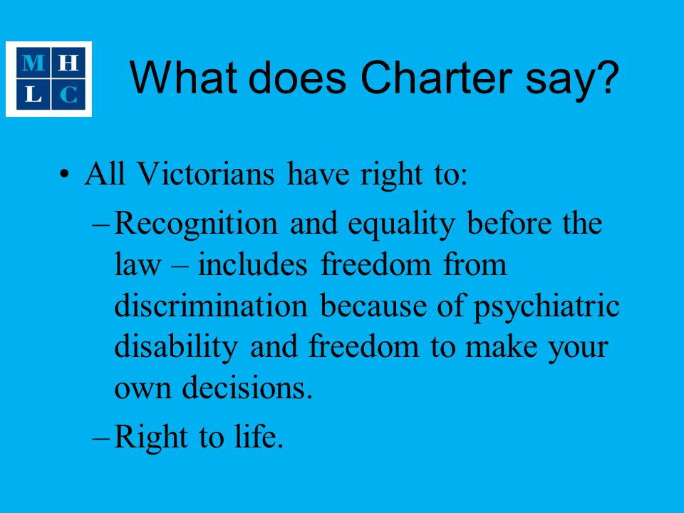 What does Charter say.