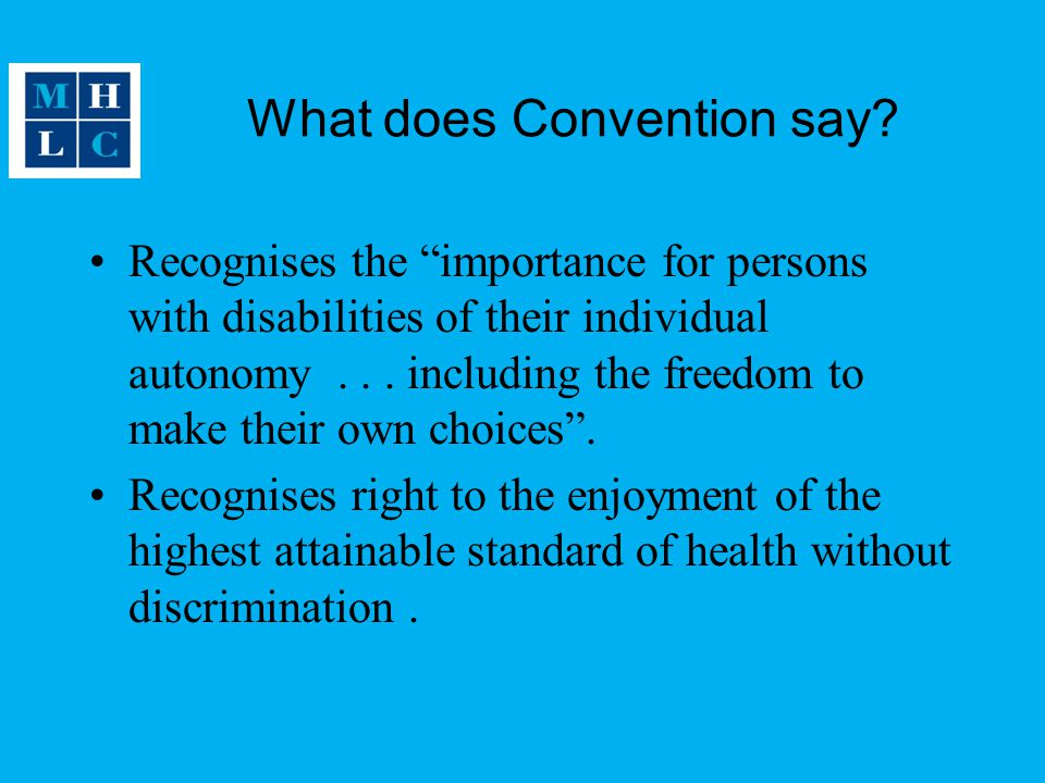 What does Convention say.