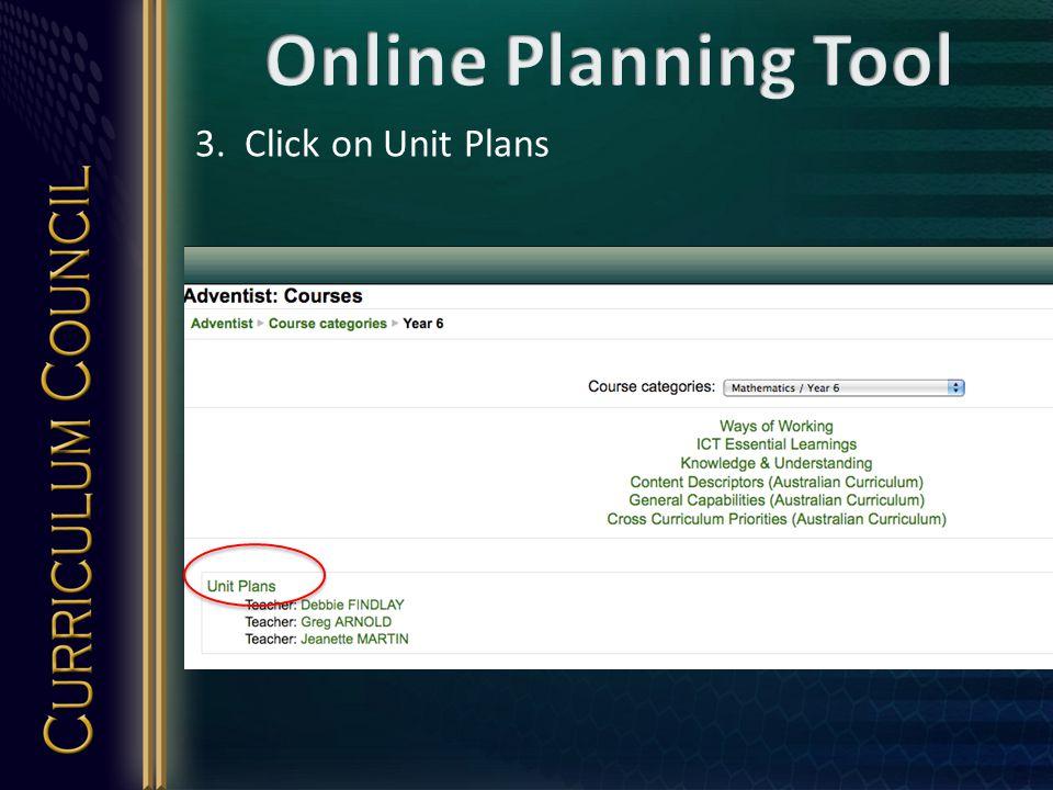 3. Click on Unit Plans