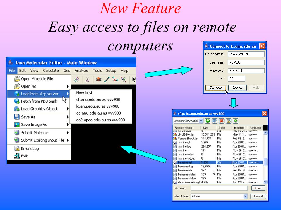 New Feature Easy access to files on remote computers