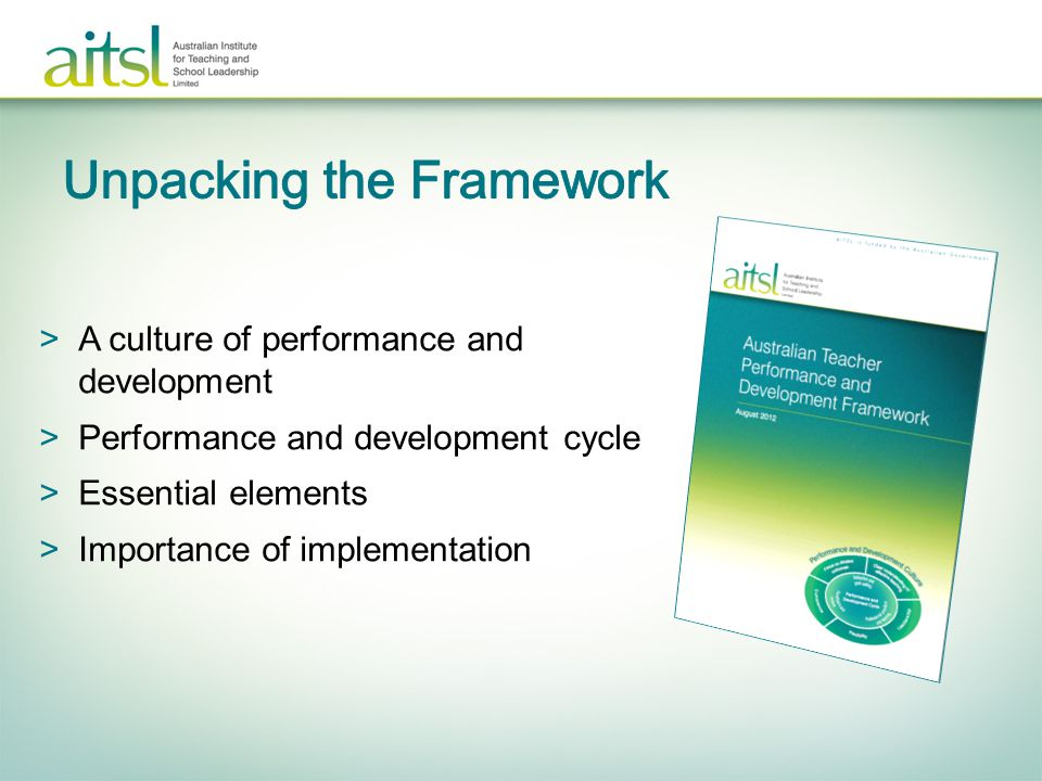 >A culture of performance and development >Performance and development cycle >Essential elements >Importance of implementation