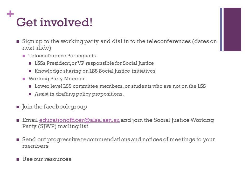 + Get involved.