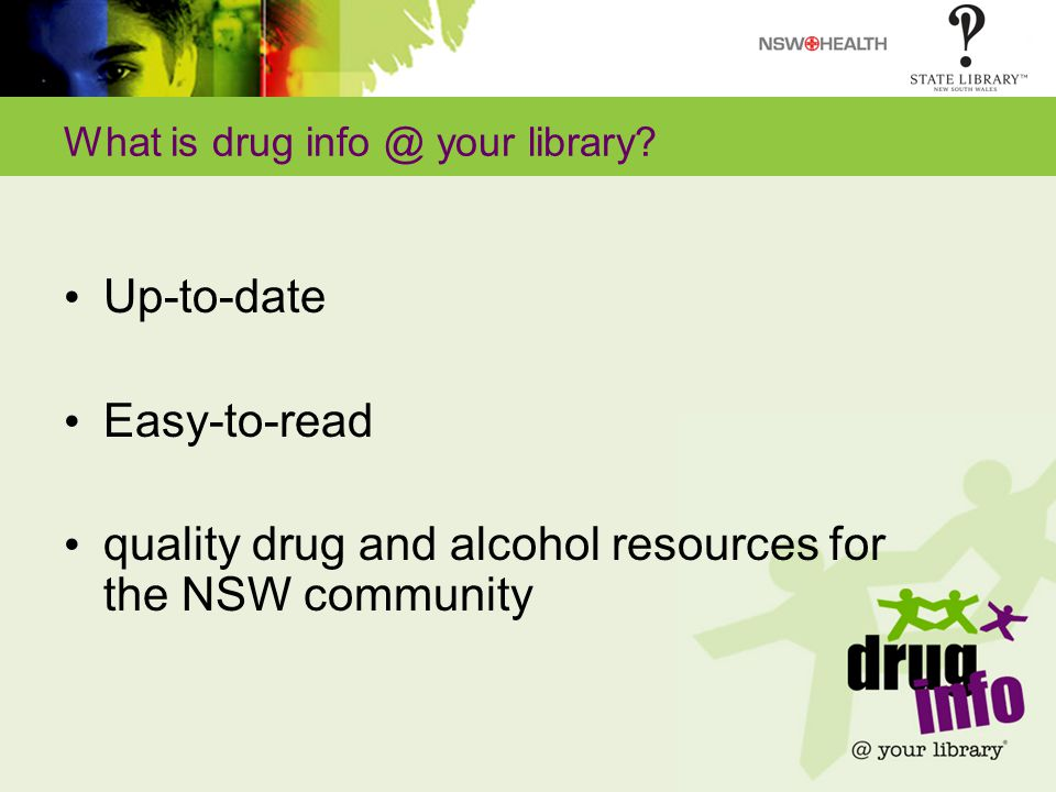 What is drug info @ your library.
